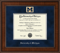 The University of Michigan Diploma Frame - Presidential Masterpiece Diploma Frame in Madison