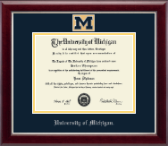The University of Michigan Diploma Frame - Masterpiece Medallion Diploma Frame in Gallery Silver
