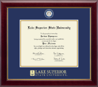 Lake Superior State University Diploma Frame - Masterpiece Medallion Diploma Frame in Gallery