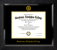 Gustavus Adolphus College Diploma Frame - Gold Embossed Diploma Frame in Eclipse