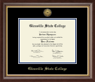 Glenville State College Diploma Frame - Gold Engraved Medallion Diploma Frame in Hampshire