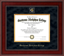 Gustavus Adolphus College Diploma Frame - Presidential Masterpiece Diploma Frame in Jefferson