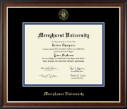 Mercyhurst University  Diploma Frame - Gold Embossed Diploma Frame in Studio Gold