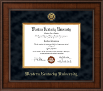 Western Kentucky University Diploma Frame - Presidential Gold Engraved Diploma Frame in Madison