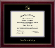 San Juan College Diploma Frame - Gold Embossed Diploma Frame in Gallery