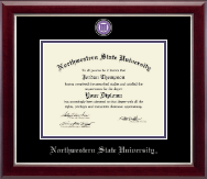 Northwestern State University Diploma Frame - Masterpiece Medallion Diploma Frame in Gallery Silver