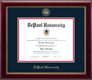 DePaul University Diploma Frame - Masterpiece Medallion Diploma Frame in Gallery