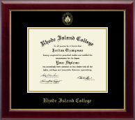 Rhode Island College Diploma Frame - Gold Embossed Diploma Frame in Gallery