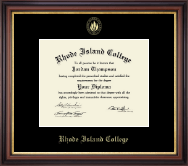 Rhode Island College Diploma Frame - Gold Embossed Diploma Frame in Regency Gold