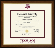 Texas A&M University Diploma Frame - Dimensions Diploma Frame in Westwood