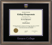 Kenyon College Diploma Frame - Dimensions Diploma Frame in Easton