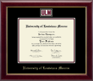 University of Louisiana Monroe Diploma Frame - Masterpiece Medallion Diploma Frame in Gallery