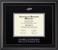 University of Wisconsin Whitewater Diploma Frame - Dimensions Diploma Frame in Midnight