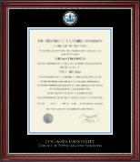 Columbia University Diploma Frame - Pewter Masterpiece Medallion Diploma Frame in Kensington Silver