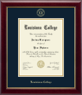 Louisiana College Diploma Frame - Gold Embossed Diploma Frame in Gallery