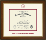 The University of Oklahoma Diploma Frame - Dimensions Diploma Frame in Westwood