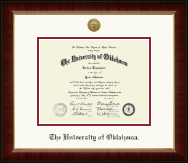 The University of Oklahoma Diploma Frame - Gold Engraved Medallion Diploma Frame in Murano