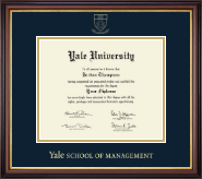 Yale University Diploma Frame - Gold Embossed Diploma Frame in Regency Gold