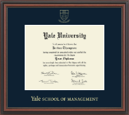 Yale University Diploma Frame - Gold Embossed Diploma Frame in Regency