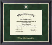 Ohio University Diploma Frame - Regal Edition Diploma Frame in Noir