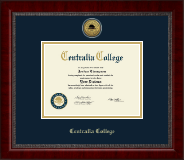 Centralia College Diploma Frame - Gold Engraved Medallion Diploma Frame in Sutton