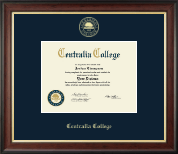 Centralia College Diploma Frame - Gold Embossed Diploma Frame in Studio Gold