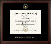 Cumberland University Diploma Frame - Gold Embossed Diploma Frame in Studio