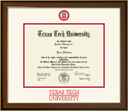 Texas Tech University Diploma Frame - Dimensions Diploma Frame in Westwood