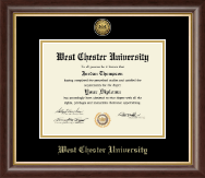 West Chester University Diploma Frame - Gold Engraved Medallion Diploma Frame in Hampshire