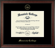 Messiah College Diploma Frame - Gold Embossed Diploma Frame in Studio