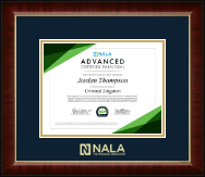 NALA The Paralegal Association Certificate Frame - Gold Embossed Certificate Frame in Murano