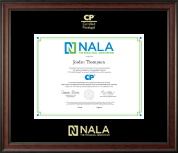 NALA The Paralegal Association Certificate Frame - Gold Embossed Certificate Frame in Studio