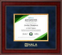 NALA The Paralegal Association Certifcate Frame - Presidential Edition Certificate Frame in Jefferson