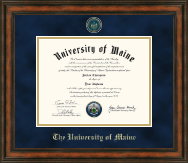 The University of Maine Orono Diploma Frame - Gold Engraved Medallion Diploma Frame in Ashford