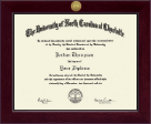 The University of North Carolina at Charlotte Diploma Frame - Century Gold Engraved Diploma Frame in Cordova
