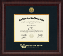 University at Buffalo Diploma Frame - Presidential Gold Engraved Diploma Frame in Premier