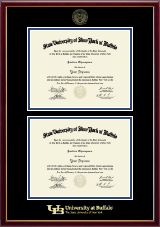 University at Buffalo Diploma Frame - Double Diploma Frame in Galleria