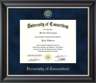 University of Connecticut Diploma Frame - Regal Edition Diploma Frame in Noir
