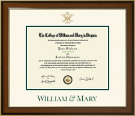 William & Mary Diploma Frame - Dimensions Diploma Frame in Westwood