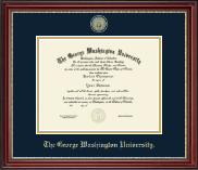 The George Washington University Diploma Frame - Masterpiece Medallion Diploma Frame in Kensington Gold