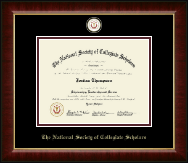 The National Society of Collegiate Scholars Certificate Frame - Masterpiece Medallion Certificate Frame in Murano