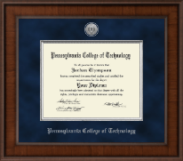 Pennsylvania College of Technology Diploma Frame - Presidential Silver Engraved Diploma Frame in Madison
