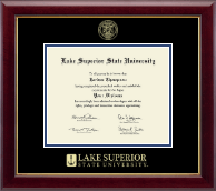 Lake Superior State University Diploma Frame - Gold Embossed Diploma Frame in Gallery