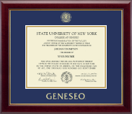 State University of New York Geneseo Diploma Frame - Gold Embossed Diploma Frame in Gallery