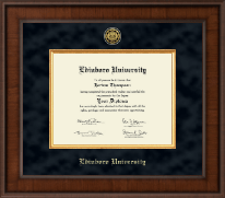 Edinboro University Diploma Frame - Presidential Gold Engraved Diploma Frame in Madison