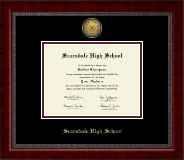 Scarsdale High School in New York Diploma Frame - Gold Engraved Medallion Diploma Frame in Sutton