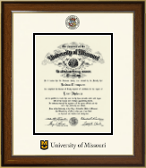 University of Missouri Columbia Diploma Frame - Dimensions Diploma Frame in Westwood