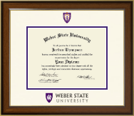 Weber State University Diploma Frame - Dimensions Diploma Frame in Westwood