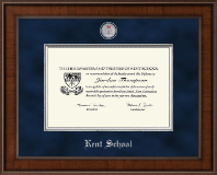 Kent School in Connecticut Diploma Frame - Presidential Masterpiece Diploma Frame in Madison