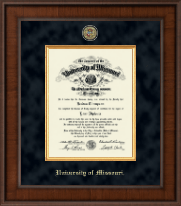 University of Missouri Columbia Diploma Frame - Presidential Masterpiece Diploma Frame in Madison